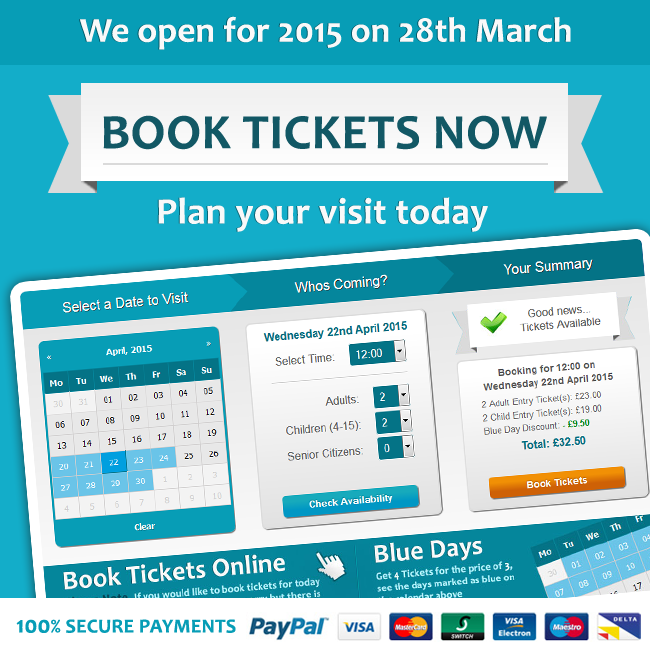 Book now for your 2015 visit